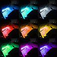 Подсветка салона автомобиля + пульт управления / Светодиодная LED RGB 4x12 LED, фото 3