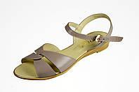 Женские легкие босоножки dixi 2064кофе бежевые   летние , фото 1