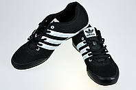 Мужские кроссовки adidas для ходьбы спорт 7 9078-6 черные   летние