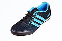 Мужские кроссовки adidas для ходьбы спорт 7 9078-5 черные   летние