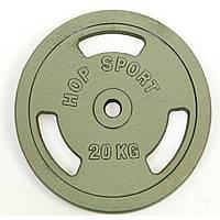 Блины стальные с хватом 20кг (диам. 30мм) TA-8030-20