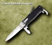 Нож выкидной 8042 HPS рог-быка, копия MIKOV. Рукоятка - рог-быка, качественные ножи, подарки для мужчин, карма