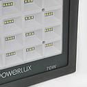 Прожектор светодиодный POWERLUX 09995 GR 70W  6500K IP66, фото 5