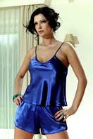 Шелковый комплект, пижама, цвет - электрик синий, разные цвета и размеры. Производство Украина.