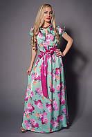 Молодежное платье в пол на лето