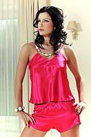 Шелковый комплект, маечка и шортики шелк - предпостельное женское белье. Размеры 42 - 48.