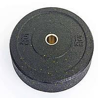 Бамперные диски для кроссфита из структурной резины 15 кг d-51мм RAGGY ТА-5126-15