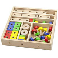 Набор строительных блоков Viga Toys 53 детали (50490)