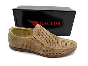 Туфлі чоловічі Kacloh 2163-6 бежевий * 20936