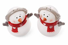 Набір для спецій Сніговик: солонка і перечниця 7.7 см, 834-185, фото 2