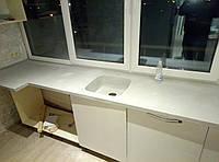 Столешница из искусственного камня со встроенной раковиной