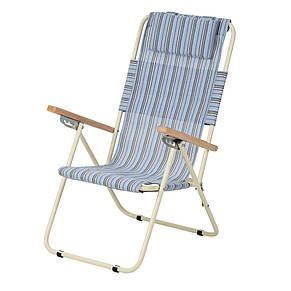 """Кресло-шезлонг """"Ясень"""" d20 мм (текстилен голубая полоска), фото 2"""
