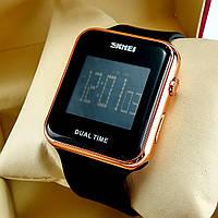 Двойное время (Dual time). Спортивные, кварцевые (электронные) наручные часы Skmei SKM-1271 золотой хром