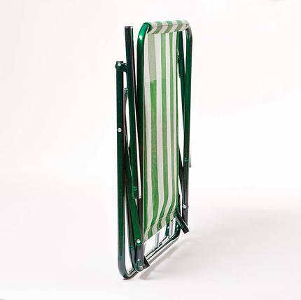 """Стул """"Дачный"""" d18 мм (бело-зеленая полоса), фото 2"""