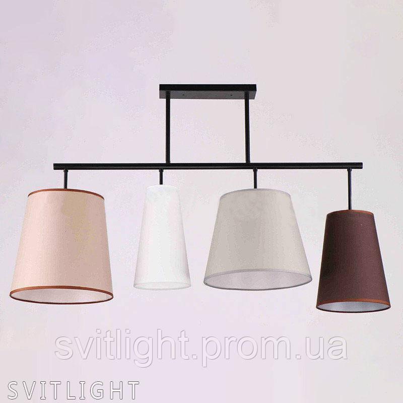 Люстра с абажуром на 4 лампочки 29-K108/4 BK/MIX Svitlight