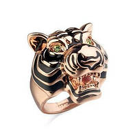 Кольцо женское Голова тигра
