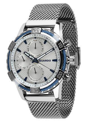 Часы мужские Guardo B01352-(2)-2 серебряные, фото 2