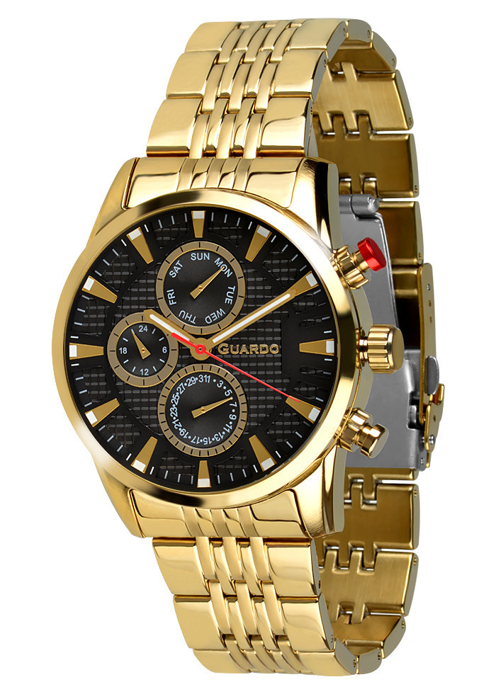 Часы мужские Guardo 011653-4 золотые