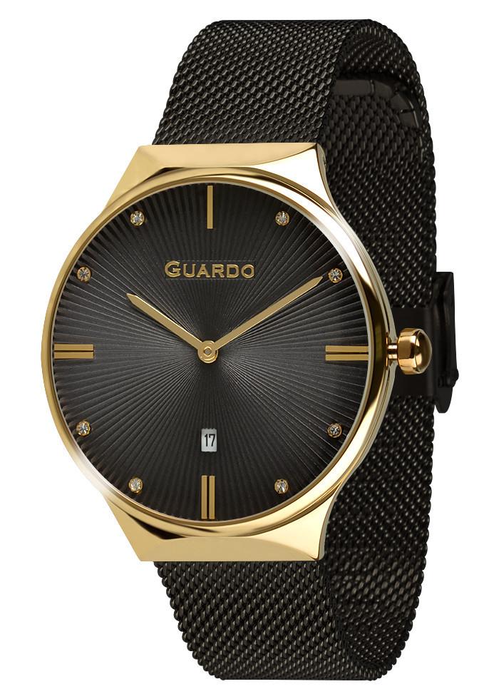 Часы женские Guardo 012473-(1)-5 черно-золотые