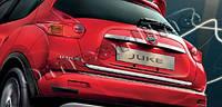 Хром накладка нижней кромки багажника Nissan juke (ниссан жук), нерж.