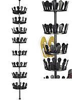 Телескопическая полка для обуви Livarno living 2,4-2,8х0,26м Черный