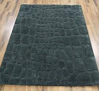 Темно серый однотонный ковер на пол, купить рельефные ковры, фото 1