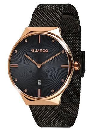 Часы женские Guardo 012473-(1)-7 черно-золотые, фото 2
