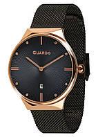 Часы женские Guardo 012473-(1)-7 черно-золотые