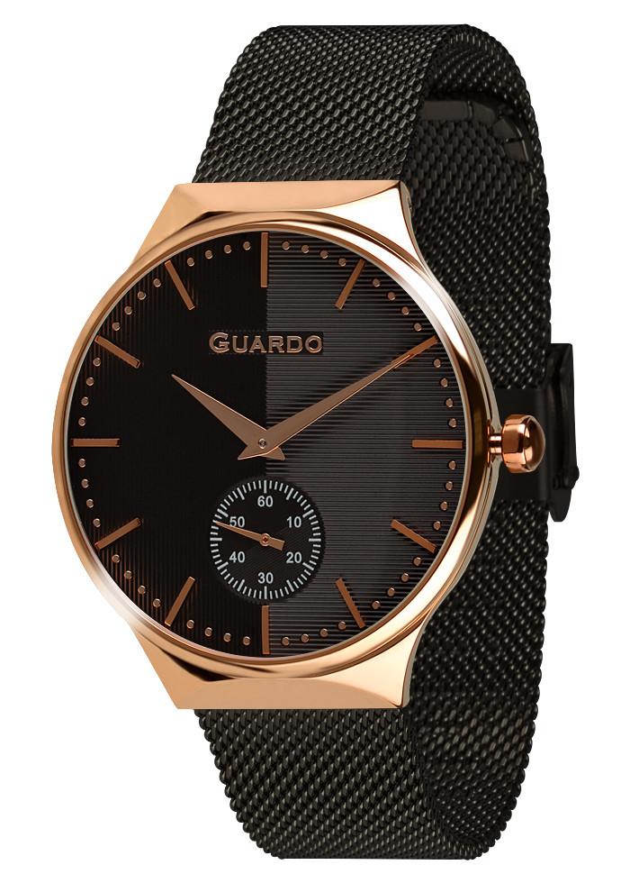 Часы женские Guardo золотые 012473-(2)-5 черно-золотые