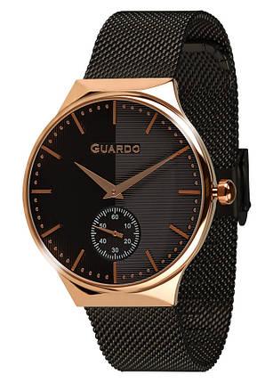 Часы женские Guardo золотые 012473-(2)-5 черно-золотые, фото 2