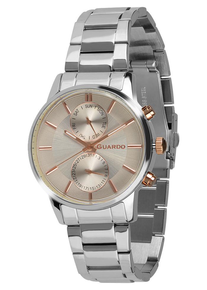 Часы мужские Guardo B01068-3 серебряные