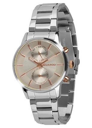 Часы мужские Guardo B01068-3 серебряные, фото 2