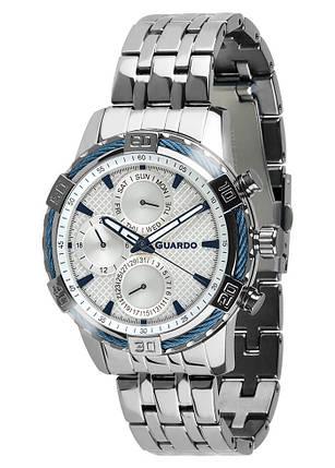 Часы мужские Guardo B01352-(1)-2 серебряные, фото 2