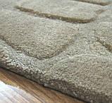 Бежевый ковер из шерсти с абстрактным рисунком, ковры с тиснением, фото 3