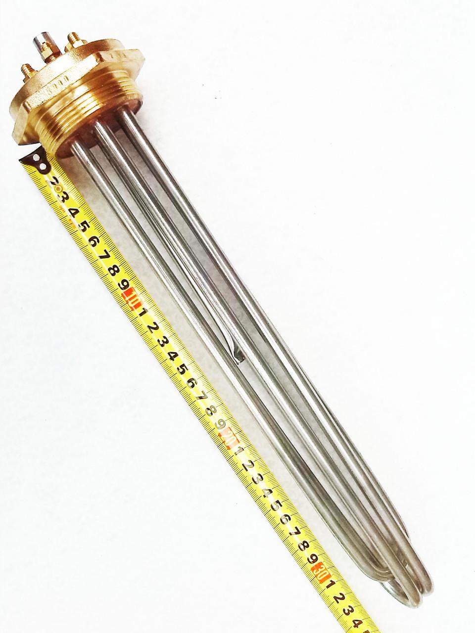 """Блок-ТЕН 2"""" на 6,0 кВт из 3-х тенов, для электрического котла отопления"""