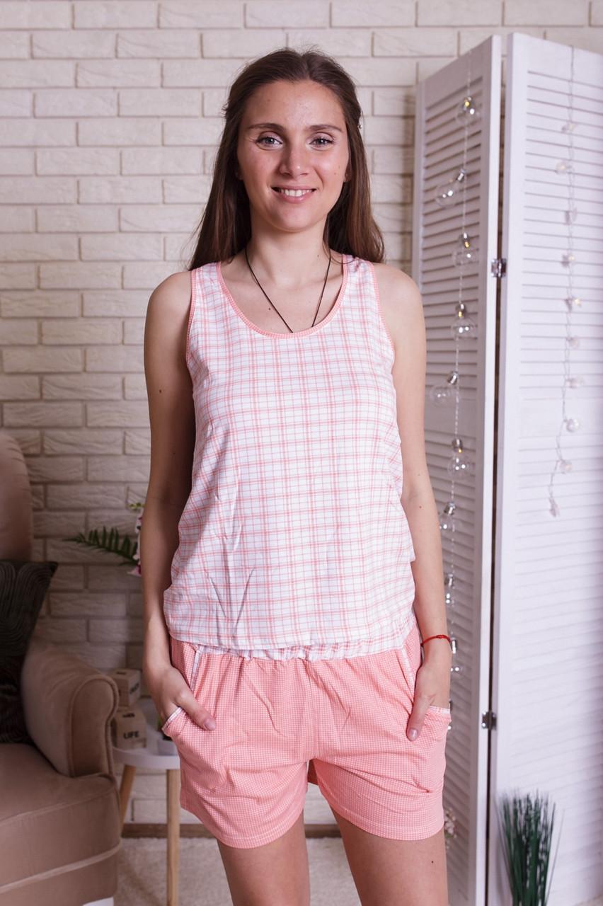 Комплект женский Майка с шортами в клетку Nicoletta 80910