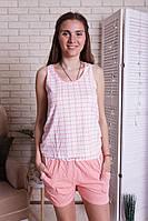 Комплект женский Майка с шортами в клетку Nicoletta 80910, фото 1