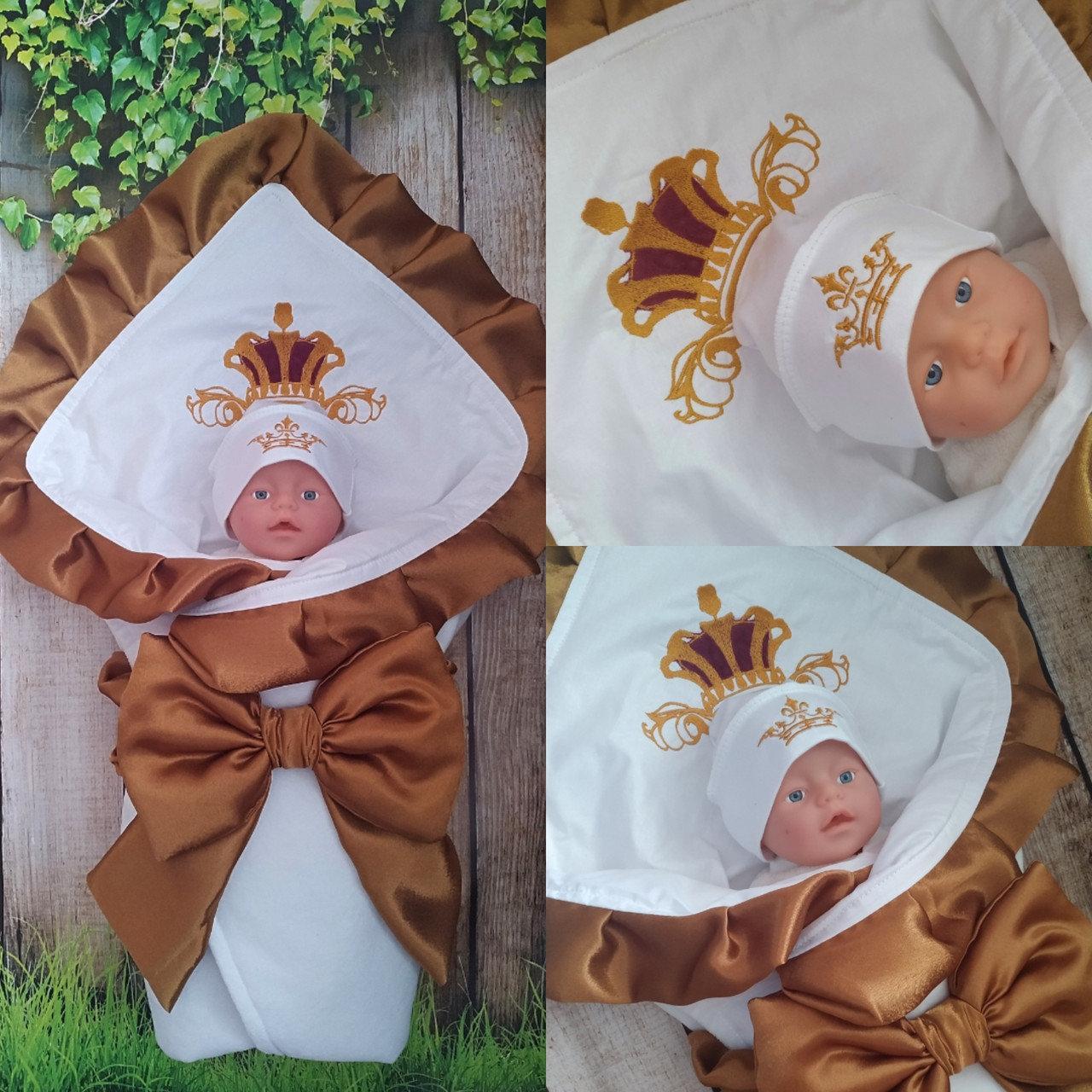 Конверт с вышивкой  для новорожденных весна-лето-осень,   78*78 см
