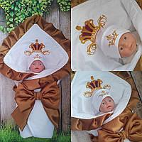 Конверт с вышивкой  для новорожденных весна-лето-осень,   78*78 см, фото 1