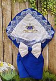 Конверт с вышивкой  для новорожденных весна-лето-осень,   78*78 см, фото 2