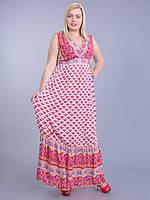Платье коралловое,  46-56 размеры