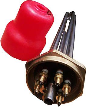 """Блок-ТЕН 1,5"""" на 7,5 кВт из 3-х тенов, для электрического котла отопления"""