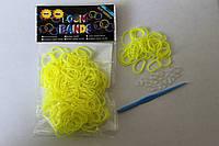 300 штук ярко-желтых резиночек для плетения Loom Bands