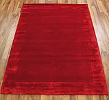 Комбіновані килими з вовни, віскози яскраво червоного кольору, фото 2