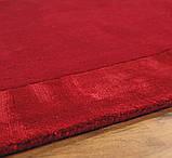 Комбіновані килими з вовни, віскози яскраво червоного кольору, фото 3