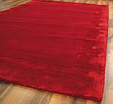 Комбіновані килими з вовни, віскози яскраво червоного кольору, фото 5