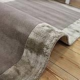 Комбинированые ковры из шерсти и вискозы бежевые, фото 3
