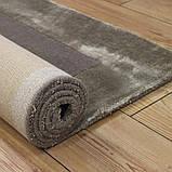 Комбинированые ковры из шерсти и вискозы бежевые, фото 5