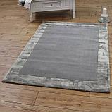 Комбинированые ковры из шерсти и вискозы серебряного цвета, фото 2