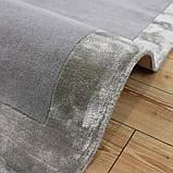 Комбинированые ковры из шерсти и вискозы серебряного цвета, фото 3